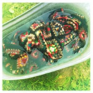 vask af vintage tekstiler. Skønvirke