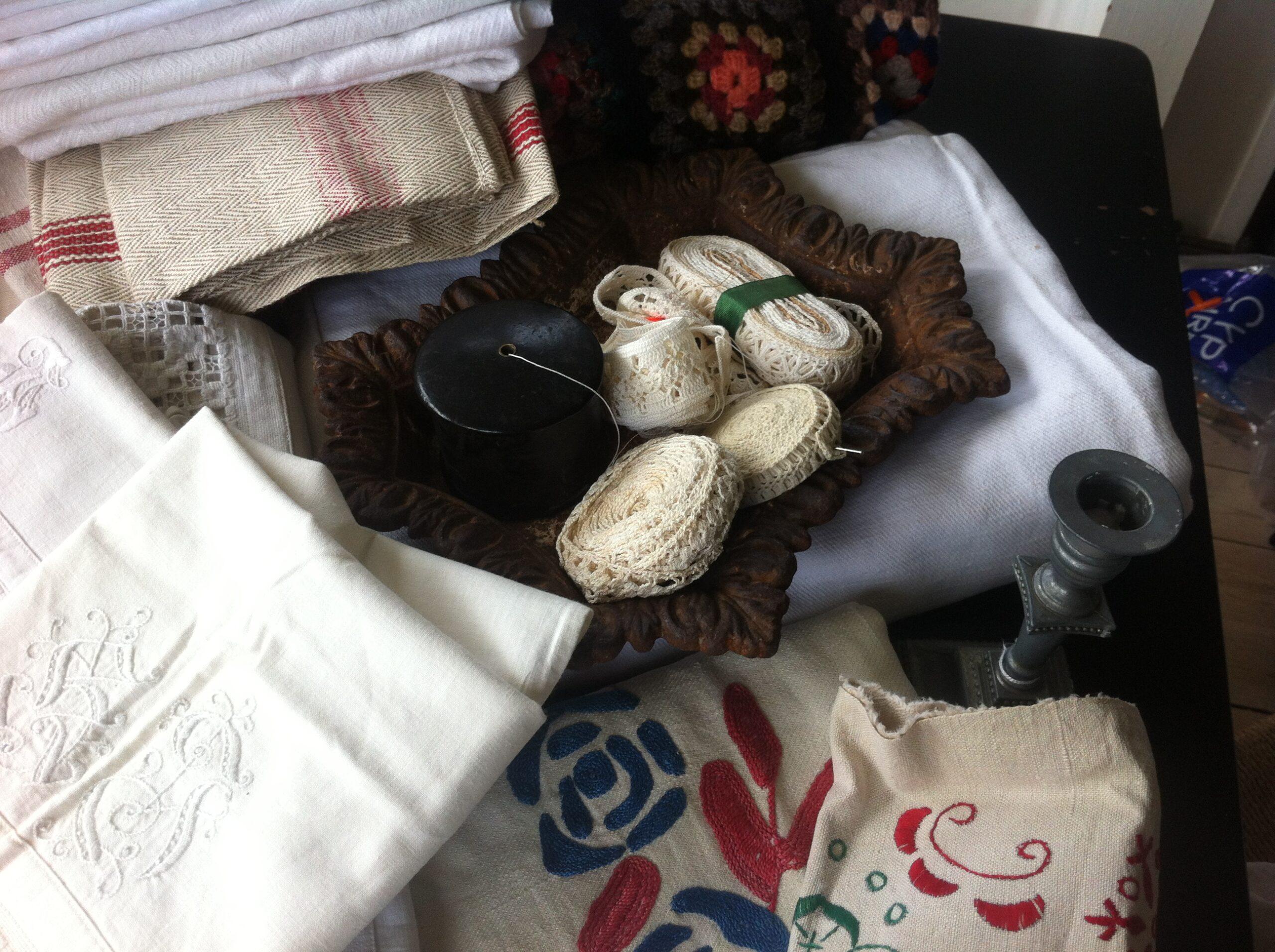 Sommerens indkøb af vintag tekstiler
