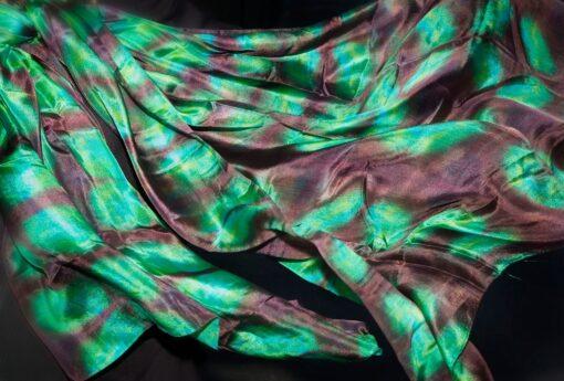 Grønt shibori tørklæde